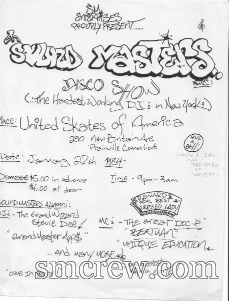 United Skates Of America, Plainville, CT 1984 Black